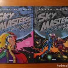 Cómics: SKY MASTERS OF THE SPACE FORCE - LIBRO 1 Y 2 - TIRAS DIARIAS - JACK KIRBY - TAPA DURA - GLENAT (GR). Lote 187160522