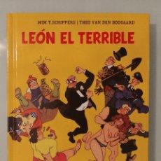 Cómics: LEÓN EL TERRIBLE TOMO INTEGRAL TAPA DURA 235 PÁGINAS EDITORIAL GLENAT WIM T.SCHIPPERS. Lote 189599467