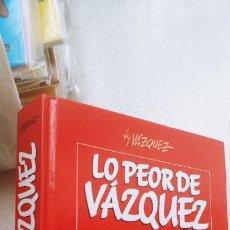 Cómics: LO PEOR DE VAZQUEZ GLENAT TOMO TAPA DURA 576 PÁGINAS. Lote 191796793