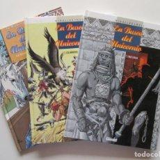 Cómics: EN BUSCA DEL UNICORNIO 1 2 3 - COMPLETA 3 TOMOS - MIRALLES Y RUIZ - GLENAT - TAPA DURA . Lote 194527757