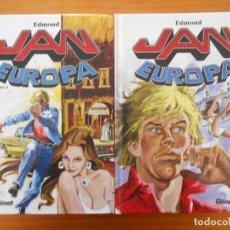 Cómics: JAN EUROPA CASI COMPLETA - LIBROS Nº 1 Y 2 (DE 3) - EDMOND - GLENAT - TAPA DURA (BF). Lote 198306743