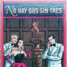 Cómics: NO HAY DOS SIN TRES. FLOC´H Y FROMENTAL. GRAN FORMATO Y TAPA DURA. POLICOLOREADO. ED. GLÉNAT 1994.. Lote 200360368