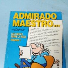 Cómics: ADMIRADO MAESTRO. LAS CARTAS SOBRE LA MESA. VOLUMEN 1. Lote 204114263