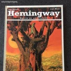 Cómics: HEMINGWAY - MUERTE DE UN LEOPARDO - 1ª EDICIÓN - GLENAT - 1993 - ¡NUEVO!. Lote 204829635