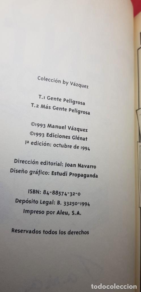 Cómics: MÁS GENTE PELIGROSA BY VÁZQUEZ 1ª EDICIÓN 1994 - Foto 2 - 204980032