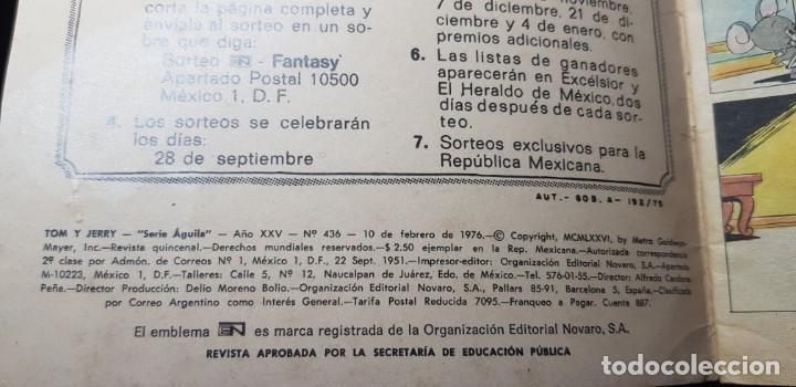 Cómics: TOM Y JERRY SERIE ÁGUILA. NOVARRO 1976 - Foto 3 - 204981798