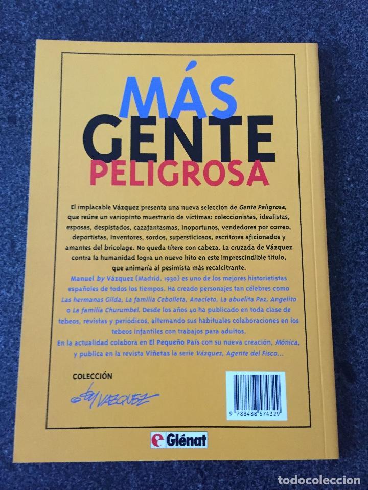 Cómics: MÁS GENTE PELIGROSA - COLECCIÓN BY VAZQUEZ Nº 2 - 1ª EDICIÓN - GLENAT - 1994 - ¡NUEV0! - Foto 2 - 206561603