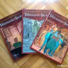 Comics: EL TRIÁNGULO SECRETO TOMOS I II Y III - 1 2 Y 3 - CARTONÉ - MUY BUEN ESTADO. Lote 216762305