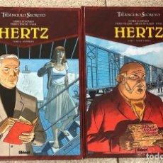 Cómics: EL TRIANGULO SECRETO. HERTZ. DIDIER CONVARD - DENIS FALQUE - ANDRE JUILLARD - PAUL. COMPLETA 2 TOMOS. Lote 217974455