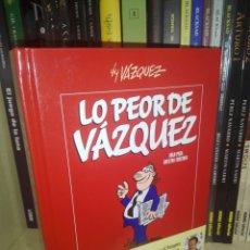 Cómics: LO PEOR DE VAZQUEZ TOMO GLENAT. Lote 218009490