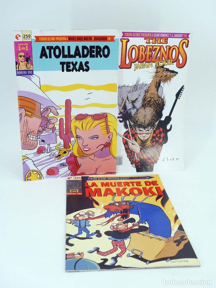 COLECCIÓN 1 DE 1. COMPLETA 3 N.º MAKOKI / ATOLLADERO TEXAS / LOBEZNOS JAPAN… (NO ACREDITADO). OFRT (Tebeos y Comics - Glénat - Autores Españoles)