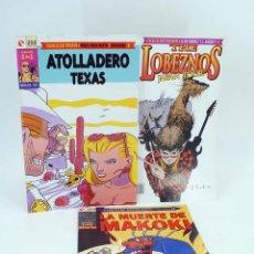 Cómics: COLECCIÓN 1 DE 1. COMPLETA 3 N.º MAKOKI / ATOLLADERO TEXAS / LOBEZNOS JAPAN… (NO ACREDITADO). OFRT. Lote 268973194