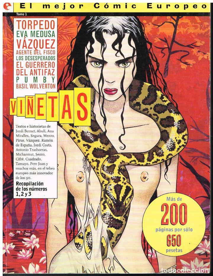 VIÑETAS - TOMO 1 (COTIENE 1, 2 Y 3) - EDITORIAL GLENAT (Tebeos y Comics - Glénat - Autores Españoles)