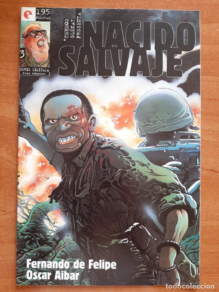 NACIO SALVAJE Nº 3 (Tebeos y Comics - Glénat - Autores Españoles)
