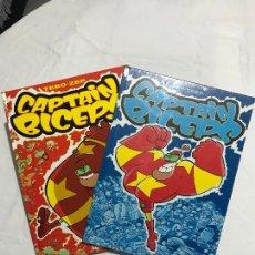 Cómics: 2 CAPTAIN BICEPS Nº 1 Y 2, EL INVENCIBLE Y EL TEMIBLE. ZEP-TEBEO, MUY BUENOS. Lote 224251203