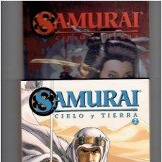 Cómics: * SAMURAI * CIELO Y TIERRA * COLECCION COMPLETA TOMO 1 Y 2 * EDICIONES GLÉNAT 2010 *. Lote 227221495