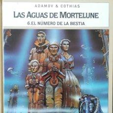 Cómics: LAS AGUAS DE MORTELUNE EL NUMERO DE LA BESTIA. Lote 228688500