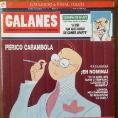 Cómics: GALANES EL SEMANARIO EL SEMANARIO DE LOS RICOS Y FAMOSOS VIÑETAS COMPLETAS. Lote 228689406