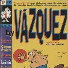 Cómics: BY VÁZQUEZ COLECCIÓN COMPLETA (TEBEOS GLÉNAT, 1996) NÚMEROS 1 AL 6. Lote 288683103