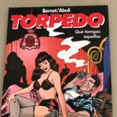"""Comics: TORPEDO """"QUE TIEMPOS AQUELLOS"""", JORDI BERNET-SANCHEZ ABULI, ENCUADERNACIÓN EN CARTONÉ. Lote 231144865"""