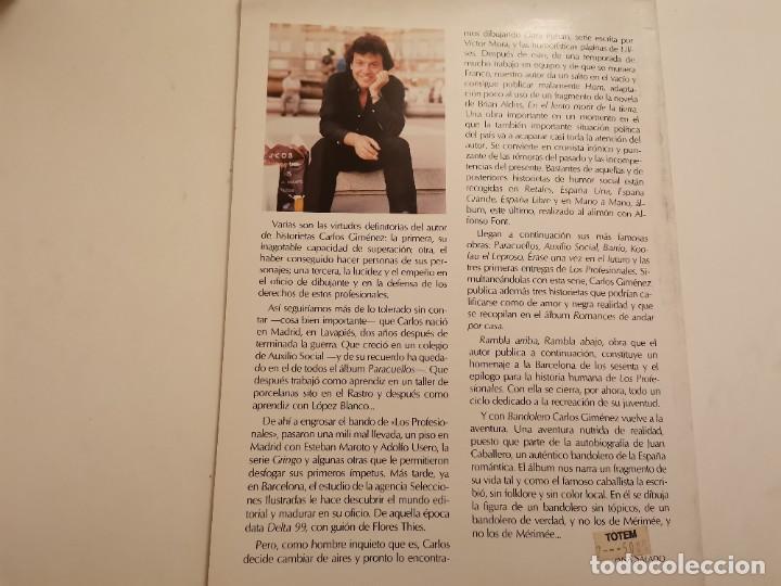 Cómics: BANDOLERO HISTORIA VERDADERA Y REAL JUAN CABALLERO EDICIONES LA TORRE 1ERA ED. 1987 - Foto 5 - 235364910