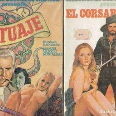Cómics: 2 COMICS EROTICOS EL CORSARIO NEGRO Y TATUAJE EDICIONES ACTUALES S.A. 1977. Lote 236712675