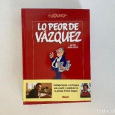 Cómics: LO PEOR DE VÁZQUEZ DE VÁZQUEZ. GLENAT.. Lote 236816560