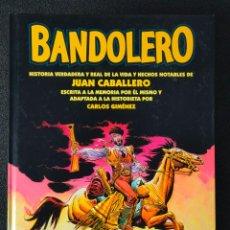 Cómics: BANDOLERO - CARLOS GIMENEZ - GLENAT - TAPA DURA. Lote 244548215