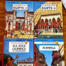 Fumetti: ELS VIATGES D'ALIX: EGIPTE (1-2), POMPEIA I ELS JOCS OLIMPICS (GLÉNAT, 2004-2006) T. DURA. EN CATALÀ. Lote 246885170