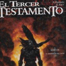 Comics: 3 COMIC EL TERCER TESTAMENTO 1 MARCO O EL DESPERTAR DEL LEON II MATEO Y III LUCAS. Lote 248474340