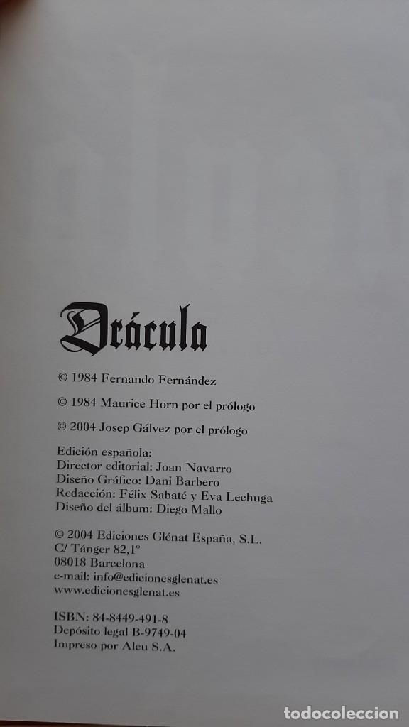 Cómics: DRACULA. FERNANDO FERNANDEZ. GLENAT - Foto 3 - 252499680