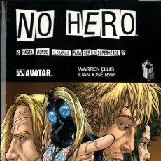 Cómics: NO HERO (GLÉNAT, 2010) DE WARREN ELLIS Y JUAN JOSÉ RYP. SELLO AVATAR. Lote 253533170