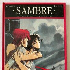 Cómics: SAMBRE #1 YA NADA ME IMPORTA... GLENAT PERFECTO ESTADO. Lote 258138905