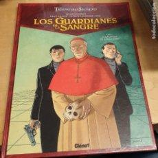 Comics : LOS GUARDIANES DE LA SANGRE TOMO 1 LA CALAVERA DE CAGLIOSTRO EL TRIÁNGULO SECRETO GLÉNAT AÑO 2010. Lote 266705083