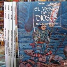"""Fumetti: COLECCIÓN """"EL VIENTO DE LOS DIOSES"""" DE COTHIAS Y ADAMOV (1993 A 1998) 5 TOMOS (COMPLETA). Lote 275491753"""