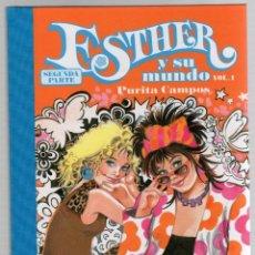 Cómics: ESTHER Y SU MUNDO. PURITA CAMPOS. SEGUNDA PARTE. VOL. 1. GLENAT, 2012. Lote 279411933