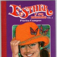 Cómics: ESTHER Y SU MUNDO. PURITA CAMPOS. VOL. 4. GLENAT, 2010. Lote 279413078