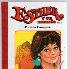 Cómics: ESTHER Y SU MUNDO. PURITA CAMPOS. VOL. 3. GLENAT, 2010. Lote 279413263