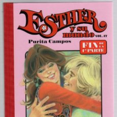Cómics: ESTHER Y SU MUNDO. PURITA CAMPOS. VOL. 17. FIN DE LA 1ª PARTE. GLENAT, 2010. Lote 279413963