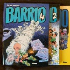 Cómics: BARRIO CASI COMPLETA NºS 1 2 Y 4 - CARLOS GIMÉNEZ - IMPECABLES. Lote 287978993