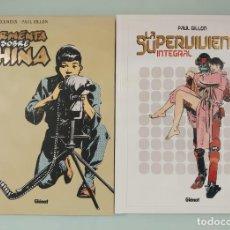 Cómics: PACK LOTE PAUL GILLON TORMENTA SOBRE CHINA Y LA SUPERVIVIENTE INTEGRAL GLENAT. Lote 289274823