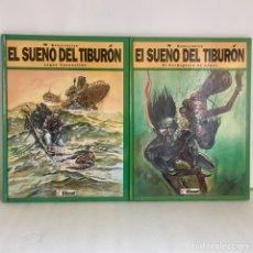 Cómics: EL SUEÑO DEL TIBURÓN I Y II, SCHULTHEISS. GLÉNAT. IMPECABLE. Lote 289686568