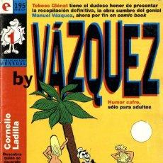 Cómics: BY VAZQUEZ-1 (GLÉNAT, 1995) DE MANUEL VÁZQUEZ. Lote 290051293