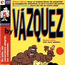 Cómics: BY VAZQUEZ-5 (GLÉNAT, 1995) DE MANUEL VÁZQUEZ. Lote 290051343