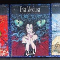 Cómics: EVA MEDUSA ED.GLENAT 3 TOMOS ANA MIRALLES /ANTONIO SEGURA. Lote 292401758