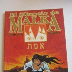 Cómics: EL SILENCIO DE MALKA ( PELLEJERO Y ZENTNER) GLENAT. TAPA DURA BUEN ESTADO C8. Lote 295978593