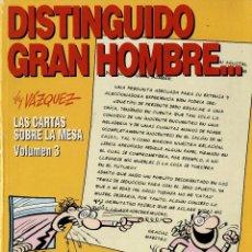 Cómics: DISTINGUIDO GRAN HOMBRE... (LAS CARTAS SOBRE LA MESA 3) GLÉNAT, 1997) DE VÁZQUEZ. Lote 297335368
