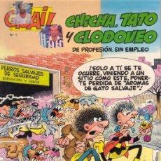 Cómics: CHICHA, TATO Y CLODOVEO. UNA VIDA PERRUNA. IBAÑEZ. COLECCIÓN TOPE GUAI!. EDITORIAL GRIJALBO JUNIOR.. Lote 27593136