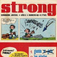Cómics: STRONG Nº40 ( HISTORIETAS DE LUCKY LUKE, QUIQUO Y LUCIO, LOS PITUFOS,....). Lote 7853684