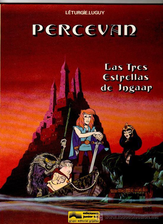 PERCEVAN, NºS 1-2-3-4, AÑOS 1984-1985-1986-1986, TAPA DURA EXCELENTE ESTADO, VER IMAGENES (Tebeos y Comics - Grijalbo - Percevan)
